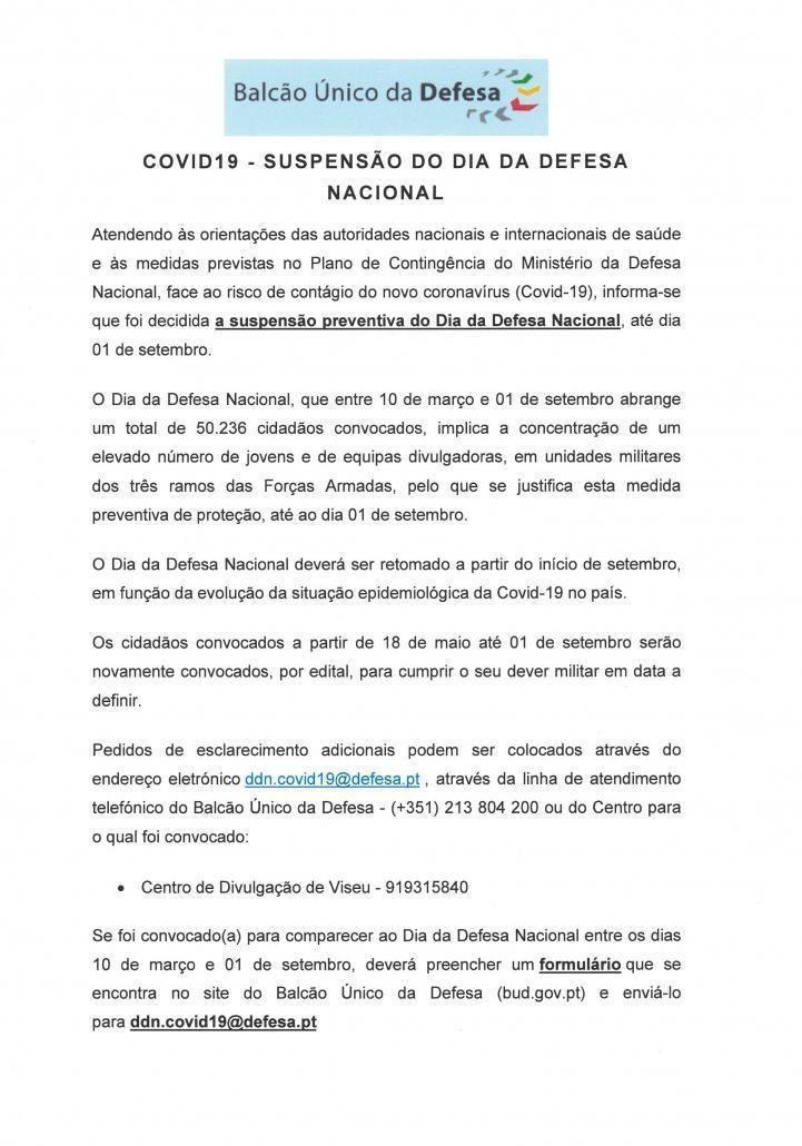 Informação Ministério da Defesa – Município de Almeida